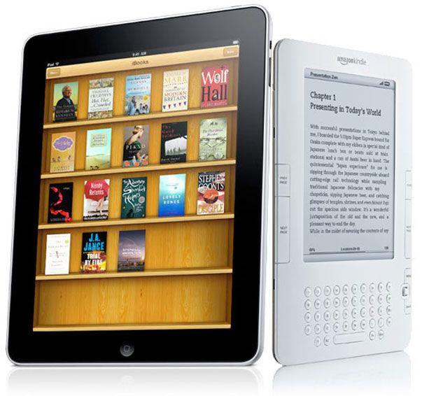 El iPad ya amenaza el liderazgo del Kindle de Amazon en los lectores de libros electrónicos (al menos en USA)