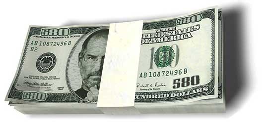 Otro año más Steve Jobs gana 1 dólar en Apple, aunque su fortuna persona supera los 5.500 millones de dólares