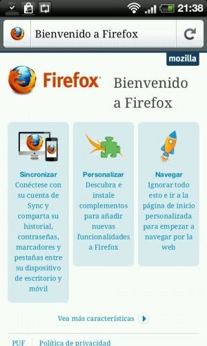 Firefox 4.0 llega a Android y Maemo 39