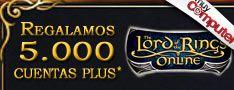 """Promoción """"El Señor de los Anillos On-line"""". Regalamos 5.000 cuentas plus"""