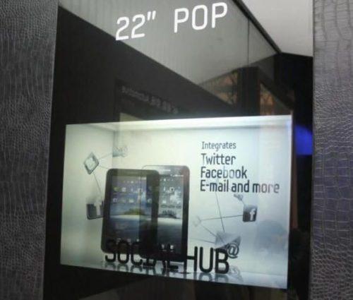 Samsung comienza a producir masivamente pantallas transparentes