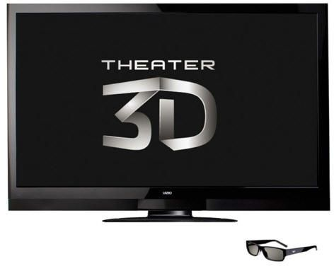 Vizio ofrece HDTV 3D desde 550 dólares
