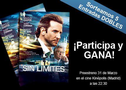 Te invitamos al preestreno de Sin Límites con Bradley Cooper