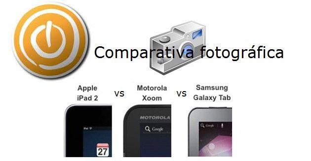comparativa camara iPad 2 Xoom Galaxy Tab