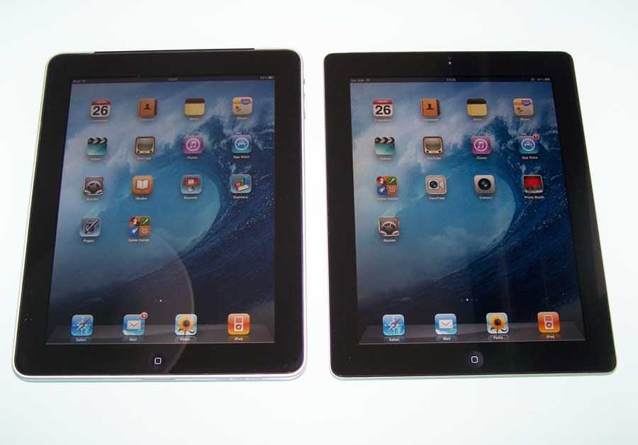 ipad2 vs ipad1 frontal Análisis iPad 2 WiFi + 3G 64 Gbytes