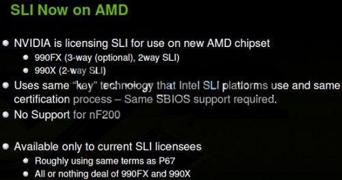 NVIDIA desbloquea el soporte SLI en placas AMD