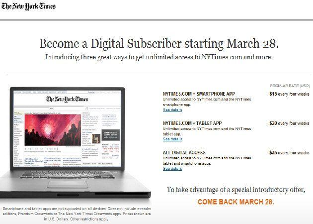NYTimes.com cobrará por acceso a contenidos ¿tú pagarías?