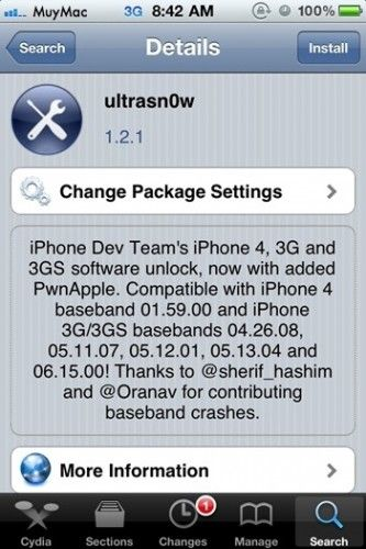 Libera iPhone 4 / 3GS en iOS 4.3.1 con Ultrasn0w 1.2.1