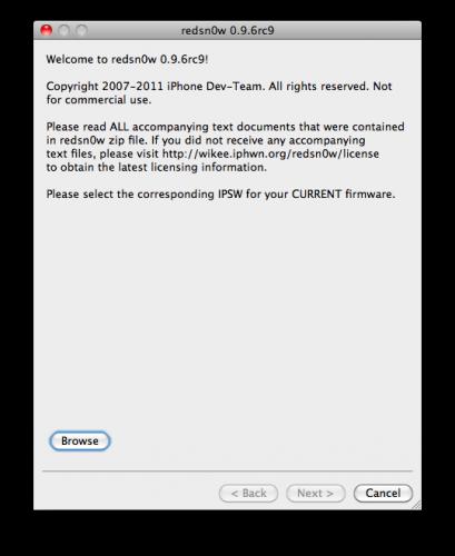 Jailbreak untethered iOS 4.3.1 con RedSn0w 0.9.6RC9 29