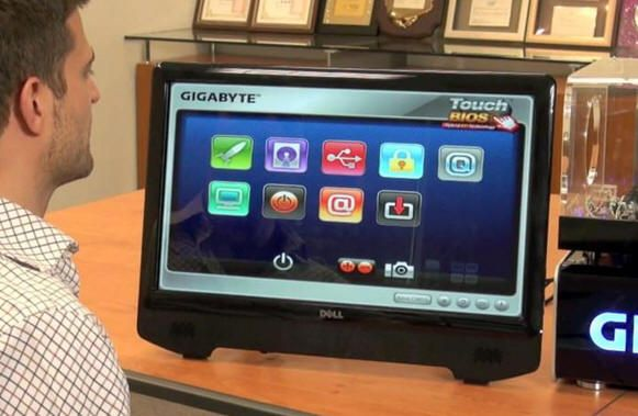 GIGABYTE muestra su BIOS táctil Touch BIOS 33