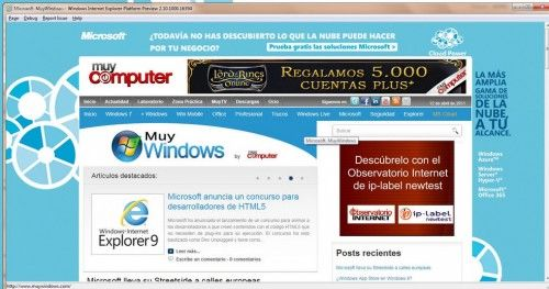 Microsoft muestra una previa de Internet Explorer 10 corriendo sobre ARM 29
