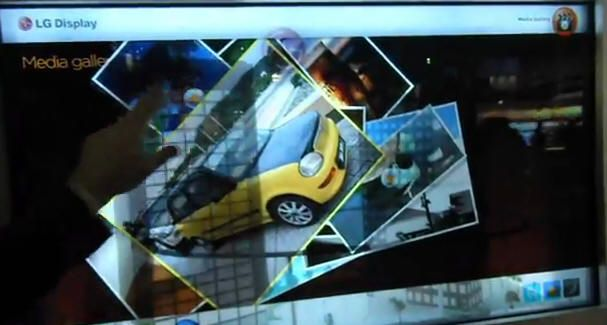LG presenta pantalla transparente de 47 pulgadas