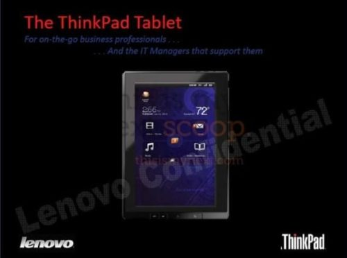 Tablet ThinkPad Lenovo con Tegra 2 y Android 3.0