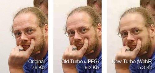 Opera Turbo es realmente rápido gracias al uso de WebP en lugar de JPEG
