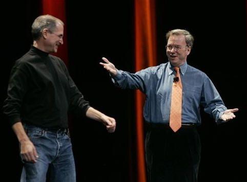 Schmidt (Google) supera a Jobs (Apple) en índice de aprobación de empleados