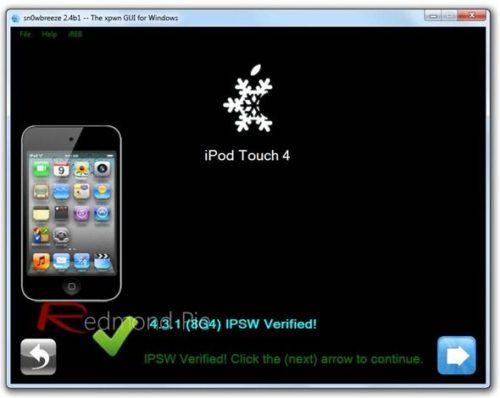 Guía Jailbreak untethered iOS 4.3.1 con Sn0wBreeze -Windows- 32
