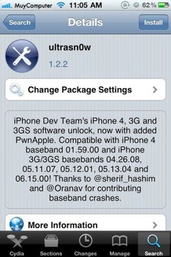 Libera iPhone en iOS 4.3.2 con Ultrasn0w 1.2.2