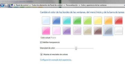 Windows 8 con 'autocolor' en Aero 30