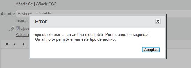 Cómo enviar archivos ejecutables con Gmail 32