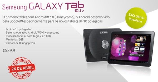 Samsung Galaxy Tab 10.1v, a punto