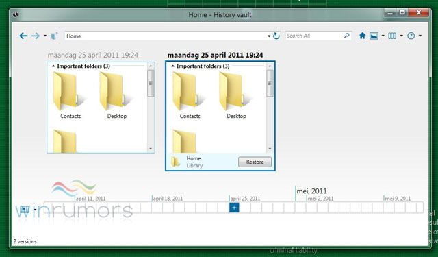 Windows 8 podría integrar un sistema de backup parecido al Time Machine de Apple