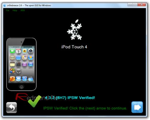 Jailbreak untethered iOS 4.3.3 sin subir baseband en Windows con Sn0wBreeze 2.7.1 30