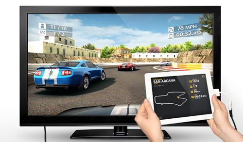 Juegos en doble pantalla 1.080p desde iPad 2, Real Racing 2 HD