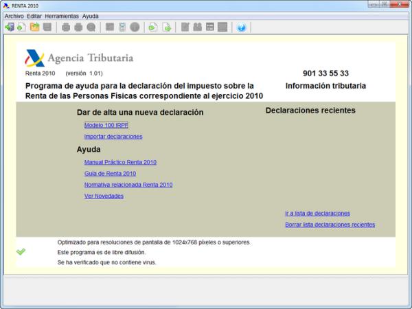 Renta 2010 (Modelo PADRE)