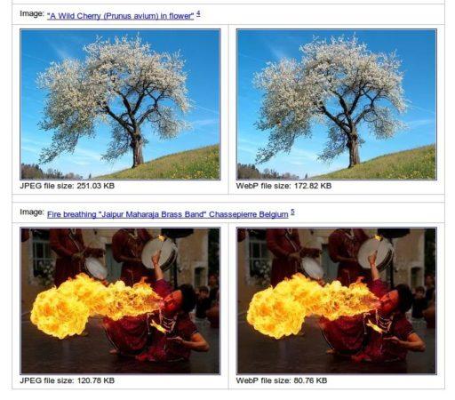 Mejoras en el formato de imagen WebP y soporte en Picasa y Gmail