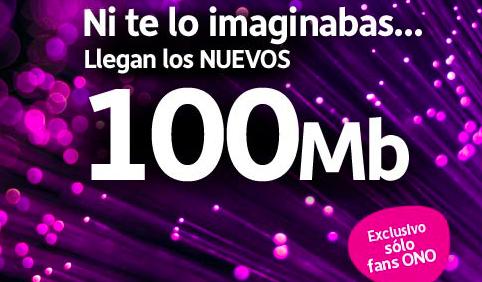 Llegan los 100 Mb de ONO