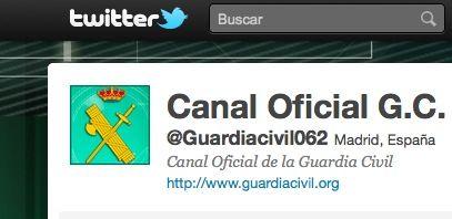 La Guardia Civil llega a Twitter -@Guardiacivil062-