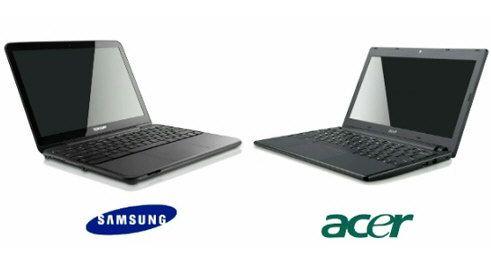 Google Chromebook Samsung serie 5 y Acer ZGB 29