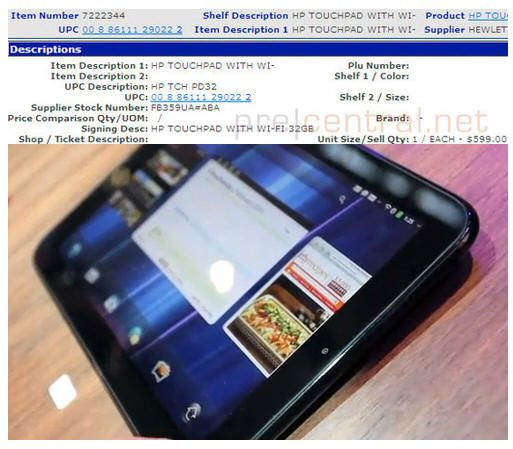 HP TouchPad 32GB, en Walmart por 599 dólares 35