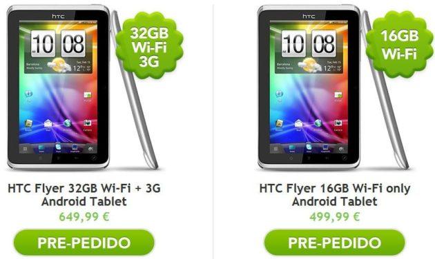 HTC Flyer a la venta en España desde 500 euros