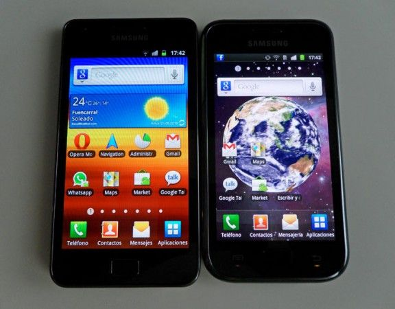 Samsung Galaxy II vs 1 pant 576x450 Samsung I9100 Galaxy S II, la saga se refuerza