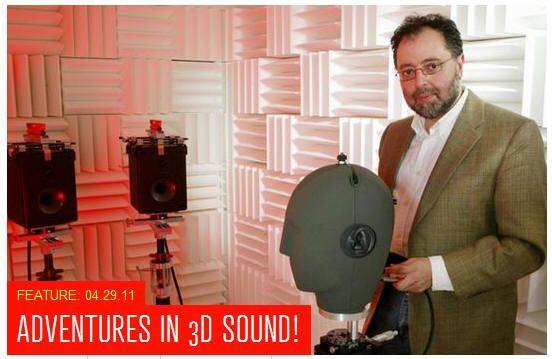 El audio 3D se unirá pronto a las películas 3D