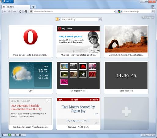 Opera 11.50 beta, Swordfish añade widgets en Speed Dial y aún mejor rendimiento 29