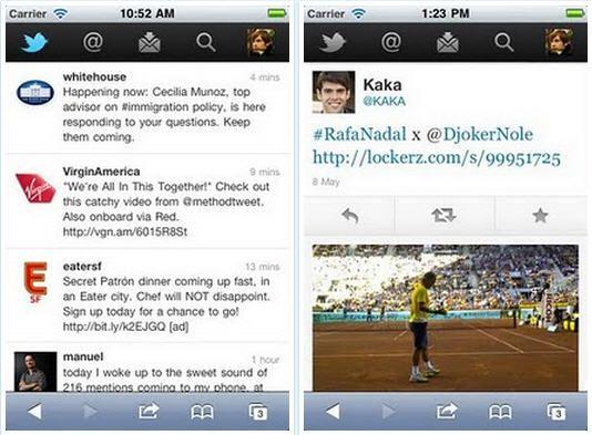 Twitter renueva su aplicación para navegadores móviles