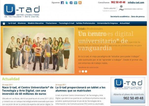 Nace U-tad, la primera universidad oficial de tecnología en España