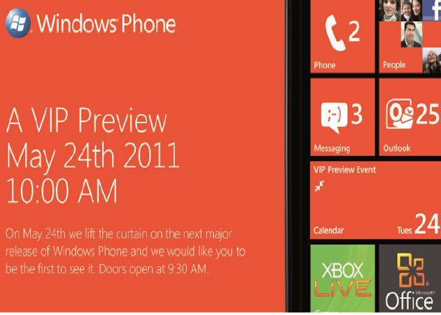 Windows Phone 7.5 'Mango', evento especial el 24 de mayo