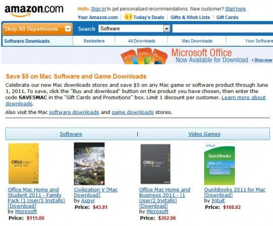 Amazon lanza Mac Download Store, en Apple se mosquean