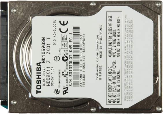 disque dur6 P 246481 3 Toshiba MK1059GSM, 2,5 1 Tbyte