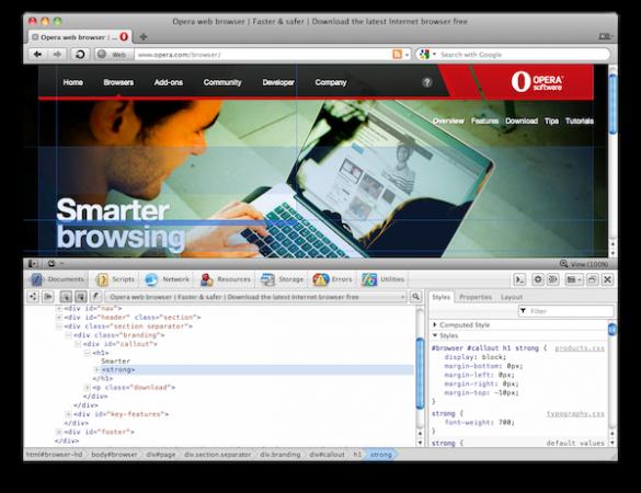 Opera Dragonfly, desarrolla y adapta webs en la nube fácilmente