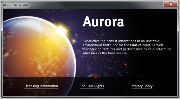 Firefox 6 llega al canal Aurora: muchas novedades