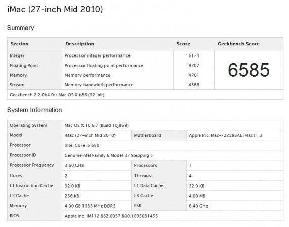 """Apple iMac 27"""" (Mid 2011) 42"""