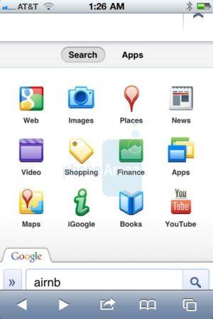 Google actualiza su portal de búsqueda personalizado para iPhone 32