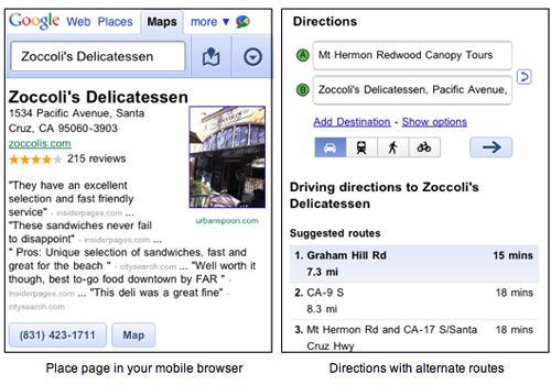 Google Maps llega en versión web para smartphones 33