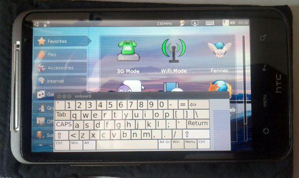 HTC Desire HD corriendo Ubuntu