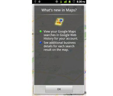 Google actualiza Maps para Android, Google Maps 5.4.0