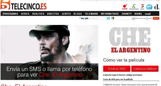 Telecinco Cinema, videoclub on-line